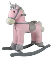 Teddies zibajoči konj na baterije, roza pliš