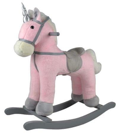 Teddies Njihajući konj na baterije, rozi pliš