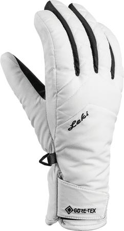 Leki ženske rokavice Sveia GTX, White-Black, 8