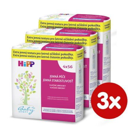 HiPP Babysanft Nedves törlőkendő, 3x224 db