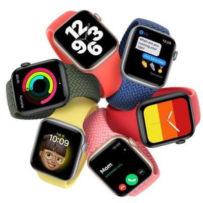 Chytré hodinky Apple Watch SE MYDP2HC/A velký Retina displej hliníkové pouzdro nastavitelný design