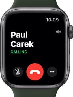 Chytré hodinky Apple Watch SE MYDP2HC/A pro běhání EKG sledování tepu srdeční činnost monitorování aktivity notifikace online platby Apple Pay tréninkové programy přehrávání hudby notifikace volání