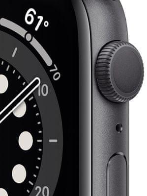 Chytré hodinky Apple Watch Series 6, veľký OLED Retina displej hliníkové puzdro nastaviteľný dizajn vymeniteľný remienok, športový, kožený