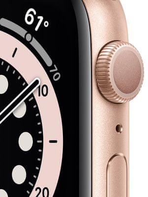 Chytré hodinky Apple Watch Series 6, velký OLED Retina displej hliníkové pouzdro nastavitelný design vyměnitelný řemínek, sportovní, kožený