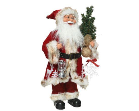 Kaemingk Dekorace Santa - červený - 45 cm
