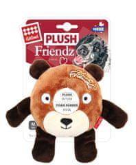 GiGwi Hračka pro psy Plush Friendz medvěd s gum. kroužkem