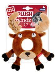 GiGwi hračka pro psy Plush Friendz sob s gum. kroužkem