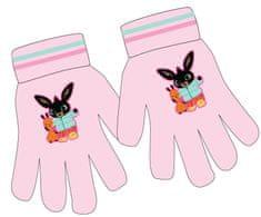 Eplusm Dievčenské prstové rukavice Bing - ružová