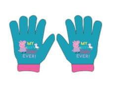 Eplusm Dievčenské prstové rukavice Peppa Pig - modrá