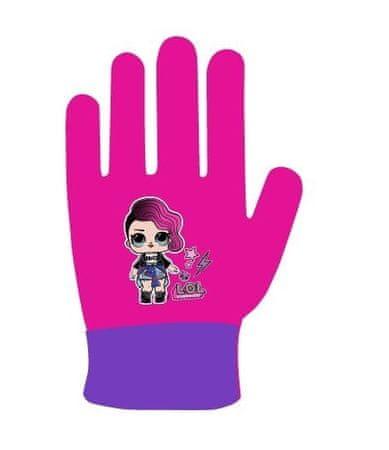 """Eplusm Dziewczęce rękawiczki na palce """"LOL"""" - fioletowy"""