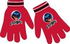 """Eplusm Dziewczęce rękawiczki na palce""""Miraculum"""" - czerwony"""