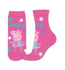 Eplusm Dievčenské vysoké ponožky Peppa Pig - ružová