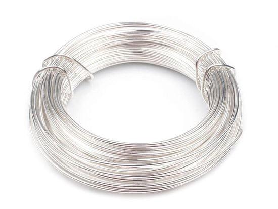 Kraftika 1ks stříbrná sv. drát ø1mm, drátky, bižuterní dráty a