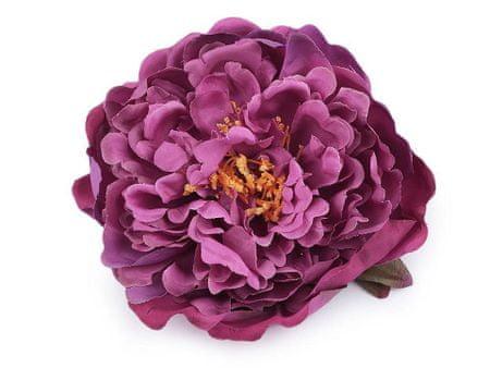 Kraftika 1db rózsaszín-lila mesterséges virág bazsarózsa