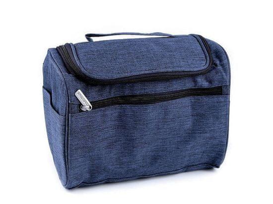 Kraftika 1ks 2 modrá jeans kosmetická taška / závěsný organizér