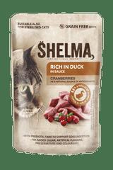 SHELMA bezobilné dusené filetky bohaté na kačacie s brusnicami v omáčke 28 x 85 g