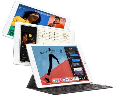 iPad 2020 Retina displej, 10 palců, vysoké rozlišení, vysoký jas, stereo reproduktory