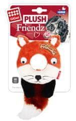 GiGwi hračka pro psy Plush Friendz liška s gum. kroužkem