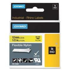 """Dymo Páska, štítky """"D1"""" nylon, 12 mm x 3,5 m, žlutá-černá"""