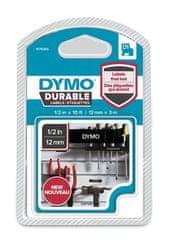 """Dymo Páska, štítky """"D1 Durable"""", bílá na černé, 12 mm x 3 m"""