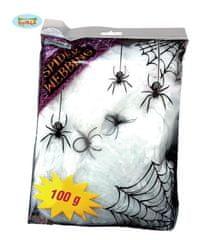 Biela pavučina s pavúkmi - HALLOWEEN - 100 g