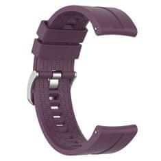 BStrap Huawei Watch GT 42mm Silicone Cube szíj, Purple Plum