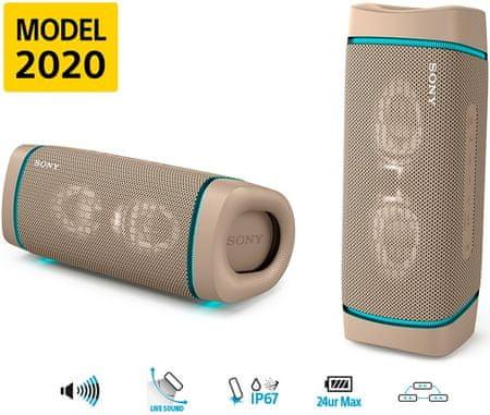 Sony prenosni zvočnik SRS-XB33, siv