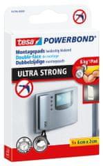 Tesa Montážne prúžky tesa® Powerbond ULTRA STRONG – jeden prúžok udrží až 6 kg, vhodné pre použitie uvútri aj vonku, 9ks 6x2cm