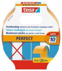 Tesa Maskovacia páska tesa® Perfect, maliarska páska - pre ostré kraje, vysoko odolná voči roztrhnutiu, ľahko sa používa, 25m:25mm