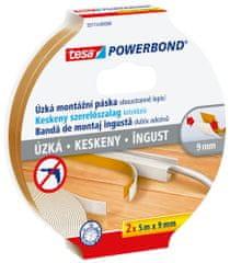 Tesa Úzká montážna páska tesa® Powerbond SLIM, obojstranná lepiaca - iba 9 mm široká