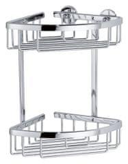Tesa tesa® Aluxx Rohový košík dvoupatrový 260mm x 163mm x 170mm