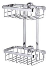 Tesa tesa® Aluxx Odkládací košík dvoupatrový, menší 260mm x 180mm x 107mm
