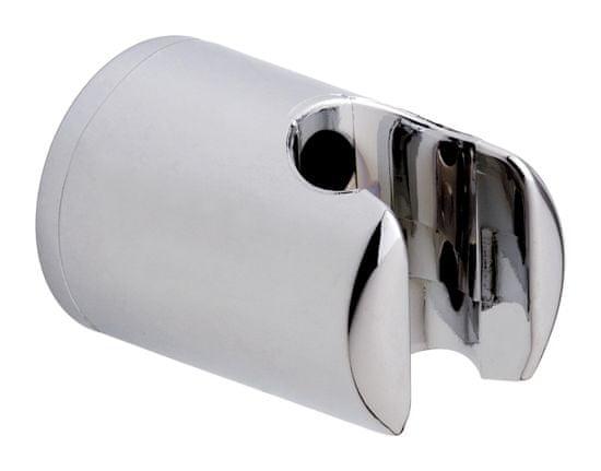 Tesa Držiak sprchovej hlavice na stenu tesa® Spaa, chrómovaný, plastový, samolepiaci, 40 mm x 40 mm x 58 mm