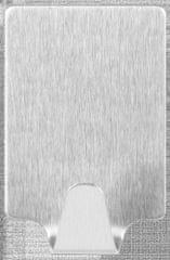 Tesa Trvalé, obdĺžnikové, kovové, samolepiace háčiky tesa®, háčiky do kuchyne na zavesenie ľahkých vecí, montáž bez vŕtania, L, 2ks