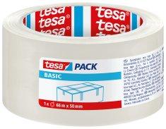 Tesa tesa® Balicí páska BASIC, základní, transparentní, 66m:50mm, kusový prodej