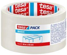 Tesa Baliaca páska tesapack® Basic, páska na lepenie krabíc - na ľahké zásielky a balíky, 50m:48mm