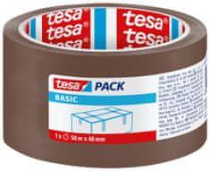 Tesa tesa® Balicí páska BASIC, základní, hnědá, 50m:48mm, kusový prodej