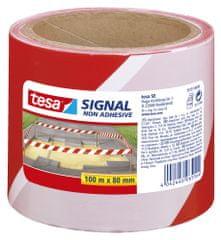 Tesa Nelepiaca značkovacia páska tesa®, výstražná páska - na označenie nebezpečných oblastí, 100m:80mm