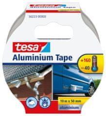 Tesa Hliníková páska tesa®, opravná páska - na ochranu, zakrytie a izoláciu kovových povrchov, 10m:50mm