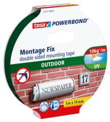 Tesa Exteriérová montážna páska tesa® Powerbond OUTDOOR, obojstranná, odolná, silné prichytenie (až 1 kg na 10 cm), 5m:19mm