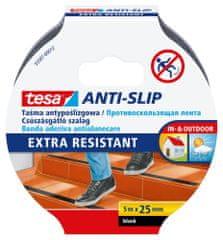 Tesa Protišmyková páska tesa® - vodoodolná, čierna, ľahko použiteľná, 5m x 25mm