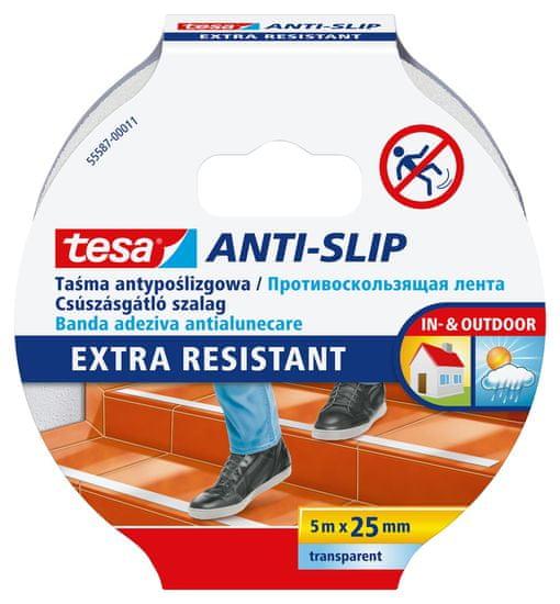 Tesa Protišmyková páska tesa® - vodoodolná, priesvitná, ľahko použiteľná, 5m x 25mm