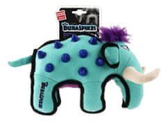 GiGwi Hračka pro psy Duraspikes textilní mamut světle modrý