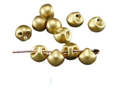 Kraftika Matowy złoty grzyb przycisk czeskie szklane koraliki 6mm x