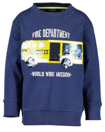Blue Seven fantovski pulover, moder, 128