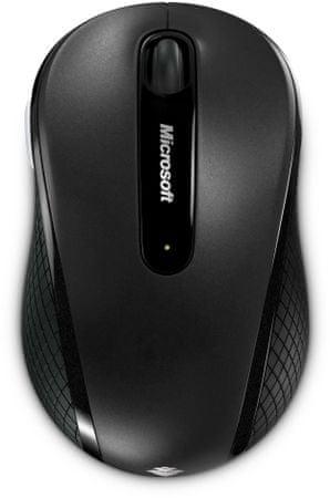 Microsoft brezžična miška Wireless 4000, črna (D5D-00133)