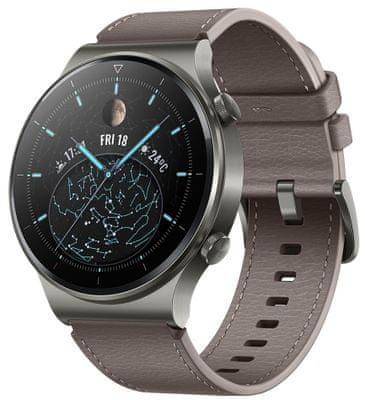 Chytré hodinky Huawei Watch GT 2 Pro, sledování tepu, multi sport, plavání, vodotěsné, hudební přehrávač, fyzická aktivita, kroky, spálené kalorie, GPS, dlouhá výdrž, spánek, stres