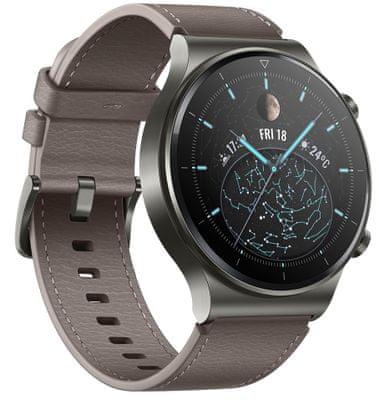 Chytré hodinky Huawei Watch GT 2 Pro, AMOLED displej, titanové tělo, safírové sklo