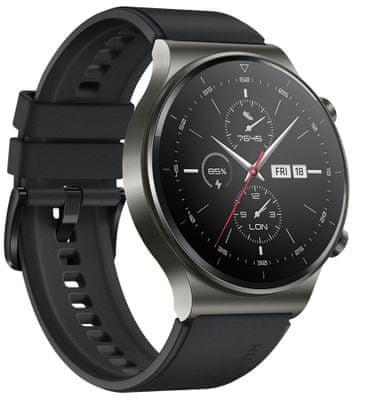 Inteligentné hodinky Huawei Watch GT 2 Pro, AMOLED displej, titánové telo, zafírové sklo