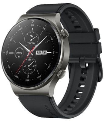 Inteligentné hodinky Huawei Watch GT 2 Pro, sledovanie tepu, multi šport, plávanie, vodotesné, hudobný prehrávač, fyzická aktivita, kroky, spálené kalórie, GPS, dlhá výdrž, spánok, stres